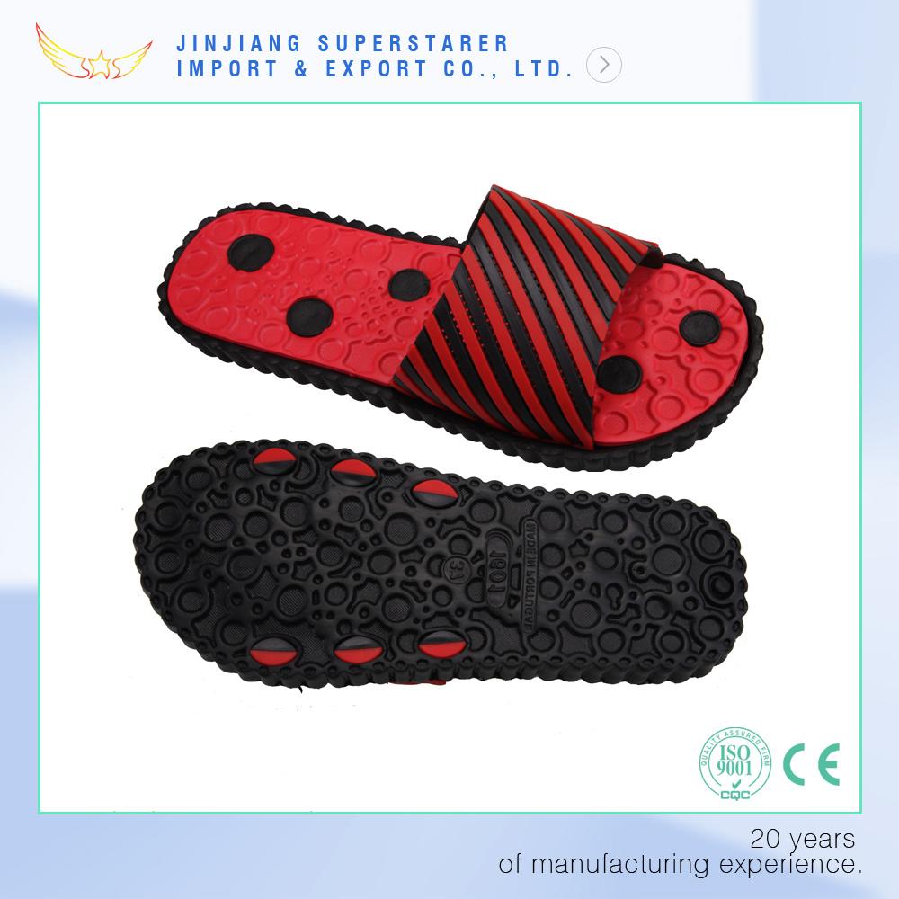 New Arrival PVC Upper Flower Ladies Girls EVA Slippers