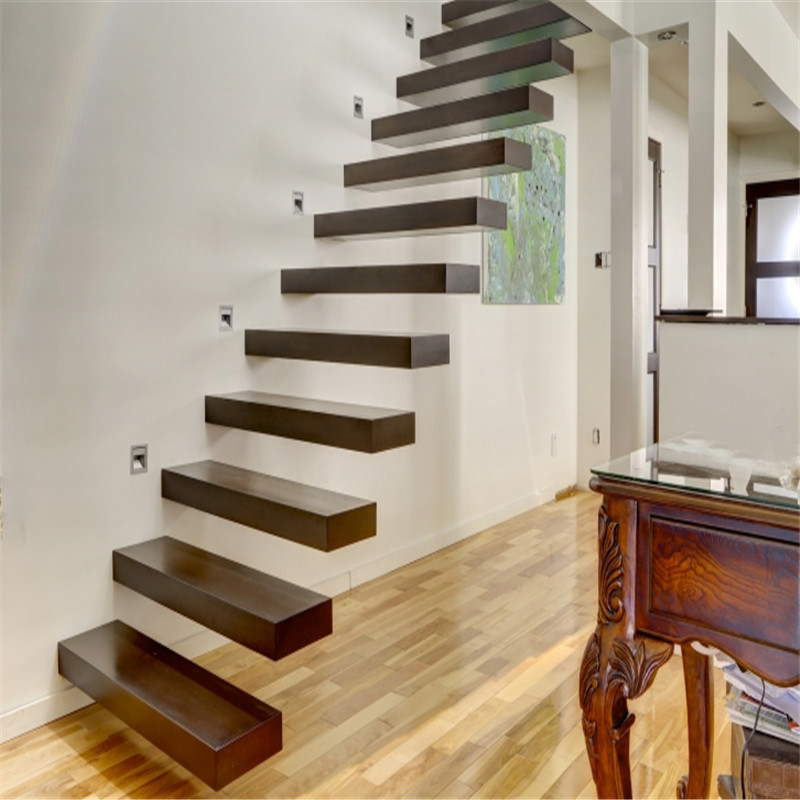Custom Floating Stairs Decorated in a Unique