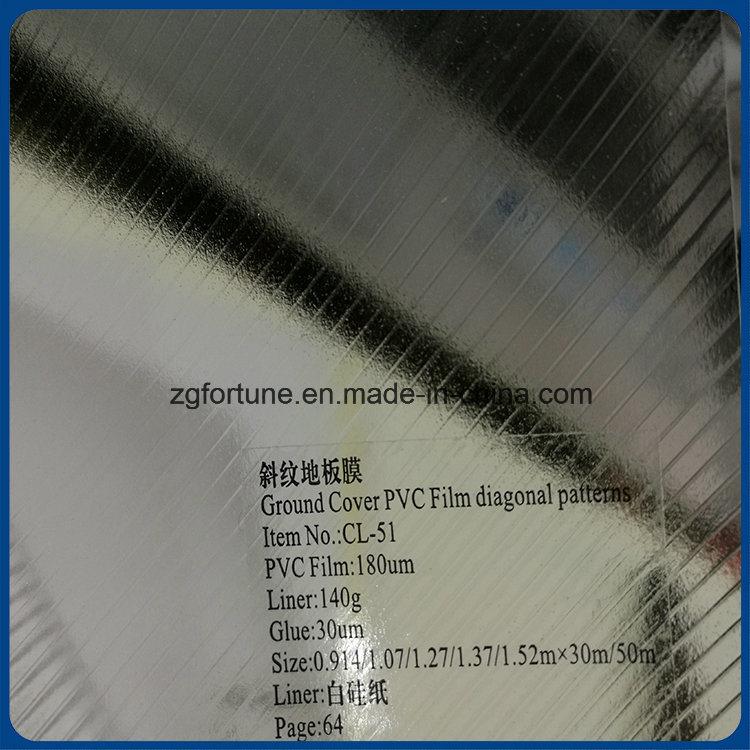Ground Advertising Photo Diagonal Patterns Type Cold Laminating PVC Film