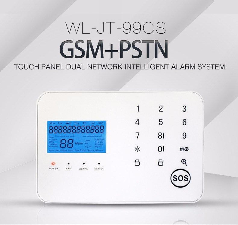 Promotion Touch Screen PSTN & GSM Security Alarm System Kit