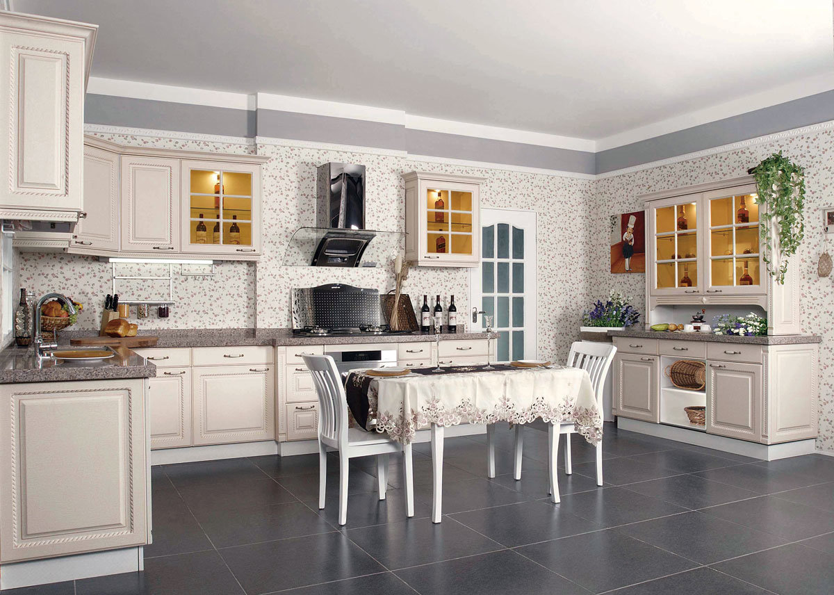 Contemporary Cabinet, Solid Wood Kitchen Cabinet, Kitchen Furniture