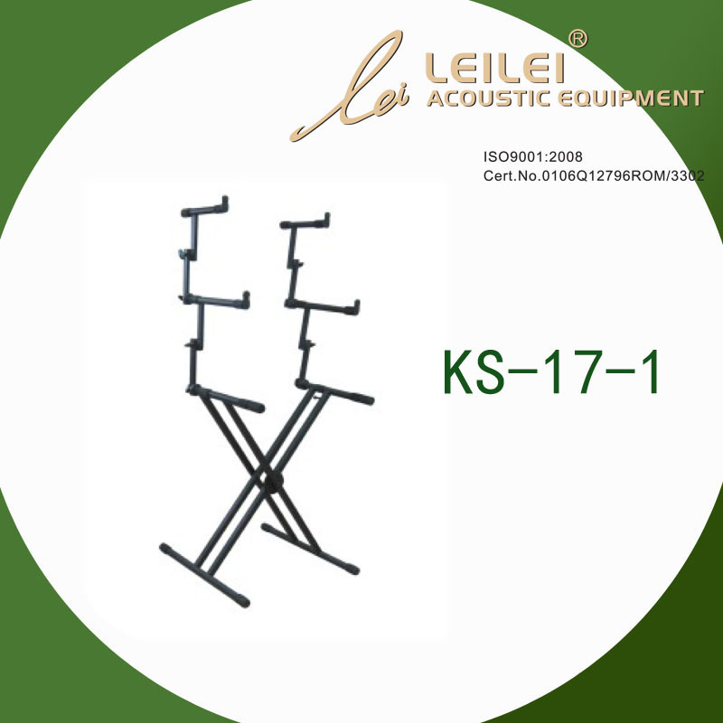 Heavy-Duty Double X Keyboard Stand (KS-17-1)