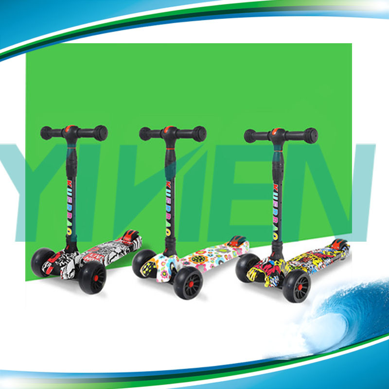 Big PU Wheel Easy Folding Scooter Child Scooter