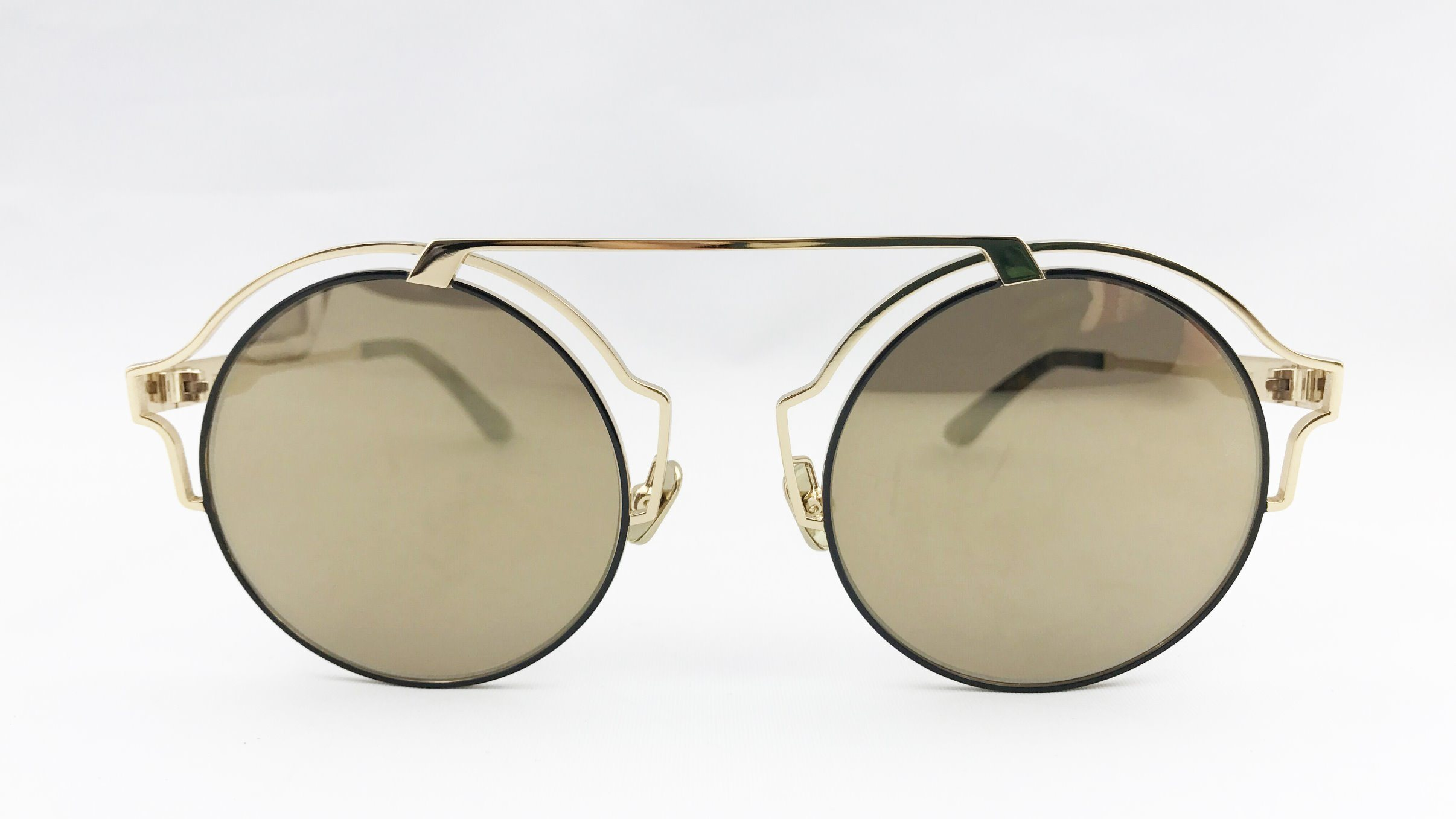 Fashion Round Shape Metal Sunglasses with Polarized Lens for Lady
