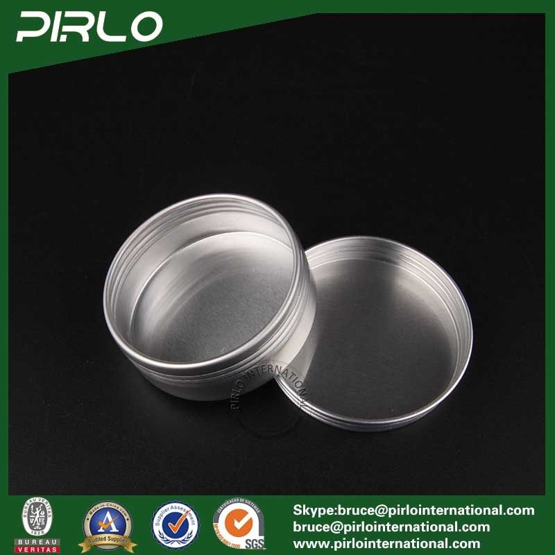 25g Silver Aluminum Tin Skin Care Cream/Lip Balm/Hair Wax Packing Aluminum Jar with Screw Lid