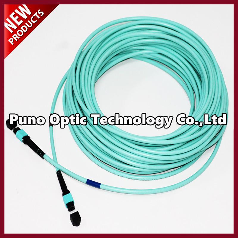 12 Cores MTP - MTP Multimode OM3 Aqua Trunk Cable