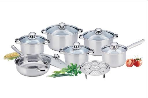 13PCS Stainless Steel Cookware Set with Elegant Design