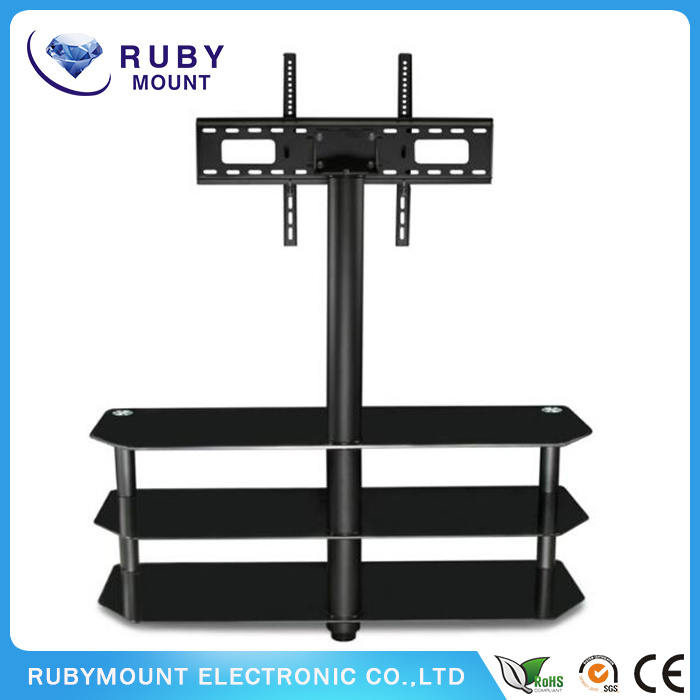 Tempered Glass Living Room Furniture TV Stand DVD Bracket