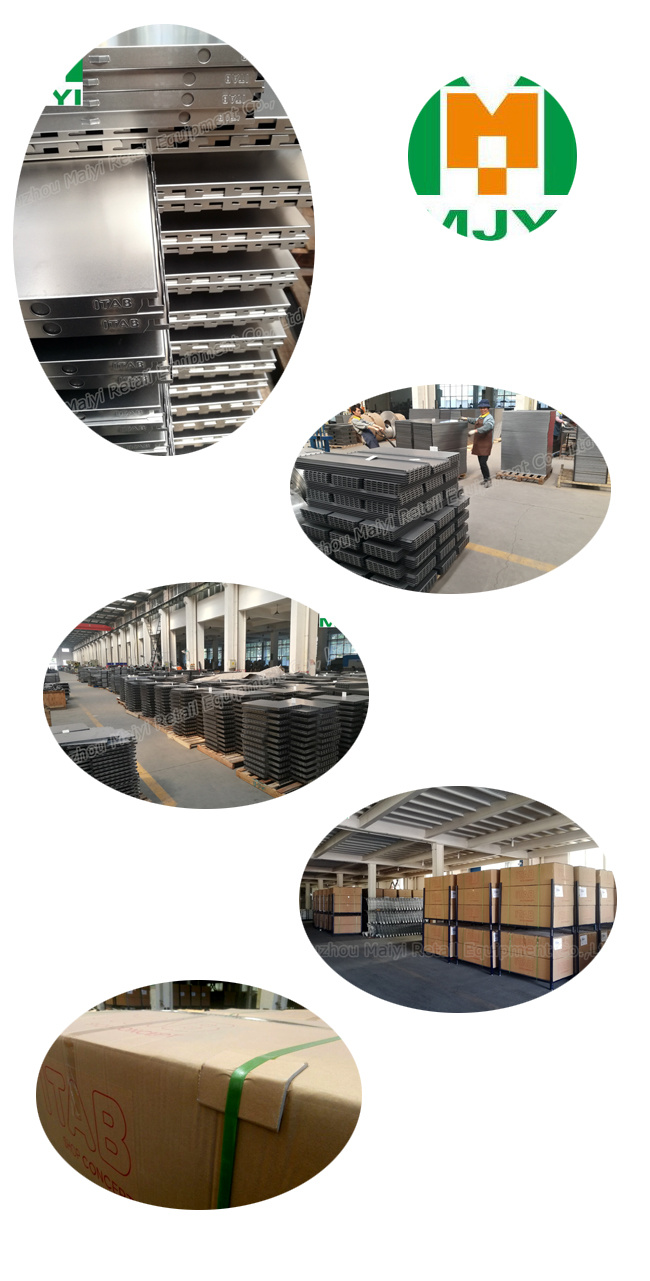 Powder Coating Metal Peforated Supermarket Standard Shelving by Manufacturer