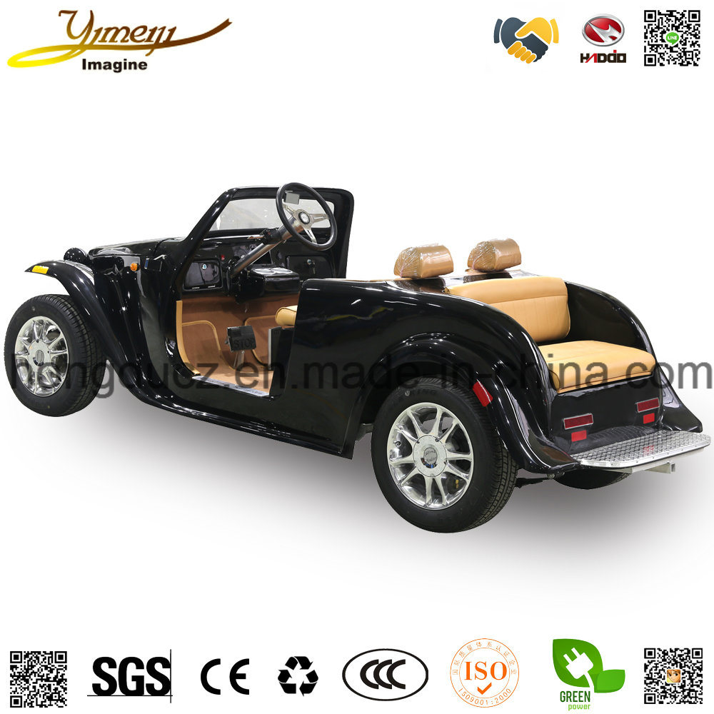 Electric Vintage Car Sightseeing Vehicle with Independent Suspension