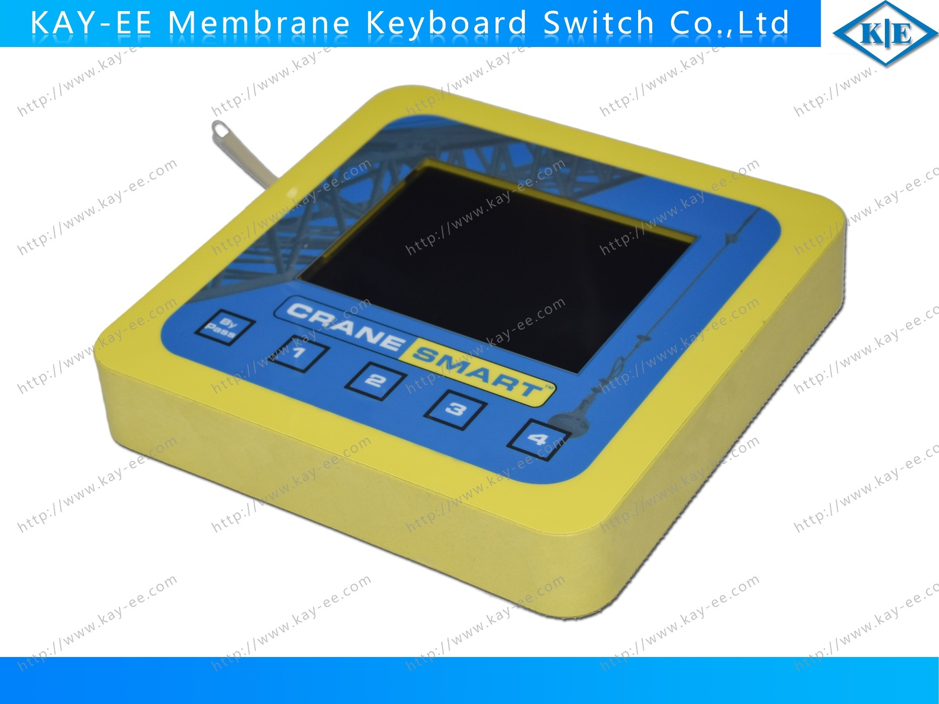 Metal Dome ESD Shield Membrane Switch Keyboard with Transparent Black Window