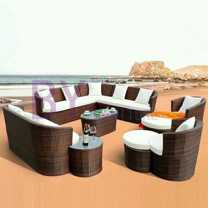 Summer Romanric PE Rattan Sofa