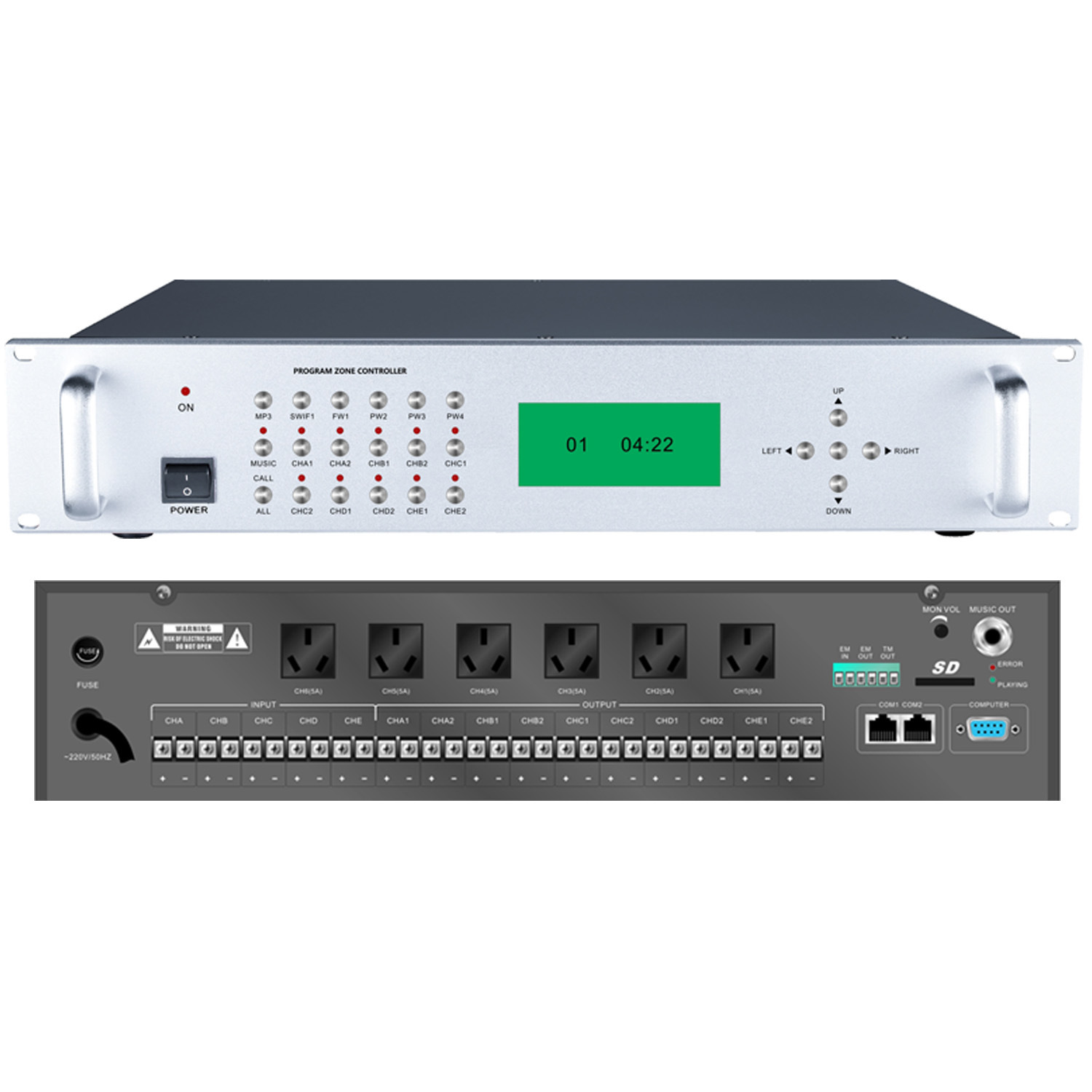 Se-5100 Digital Programming Zone Controller Amplifier