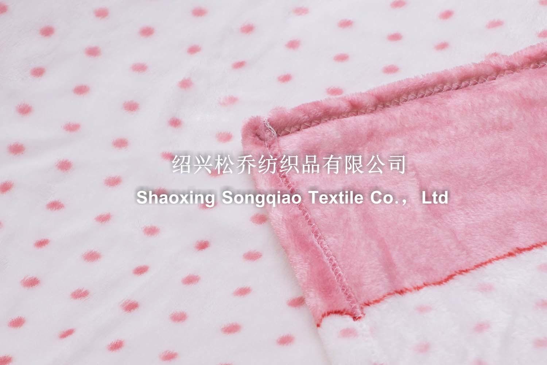 100% Polyester Coral Fleece Blanket - DOT