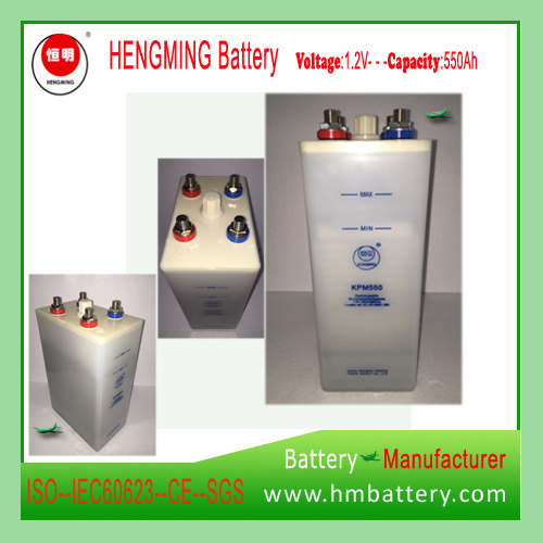 Hengming Gnz550 220V550ah Kpm550 1.2V Pocket Type Nickel Cadmium Battery Kpm Series (Ni-CD Battery) Rechargeable Battery