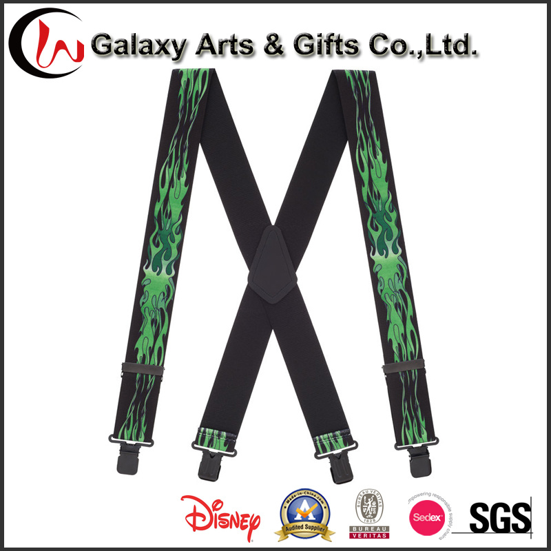 Wholesale Cheap Natty Men′s Elastic Custom Printing Suspender