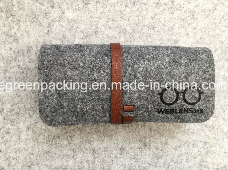 Felt Eyeglasses/Sunglasses Case with Strip (F1)