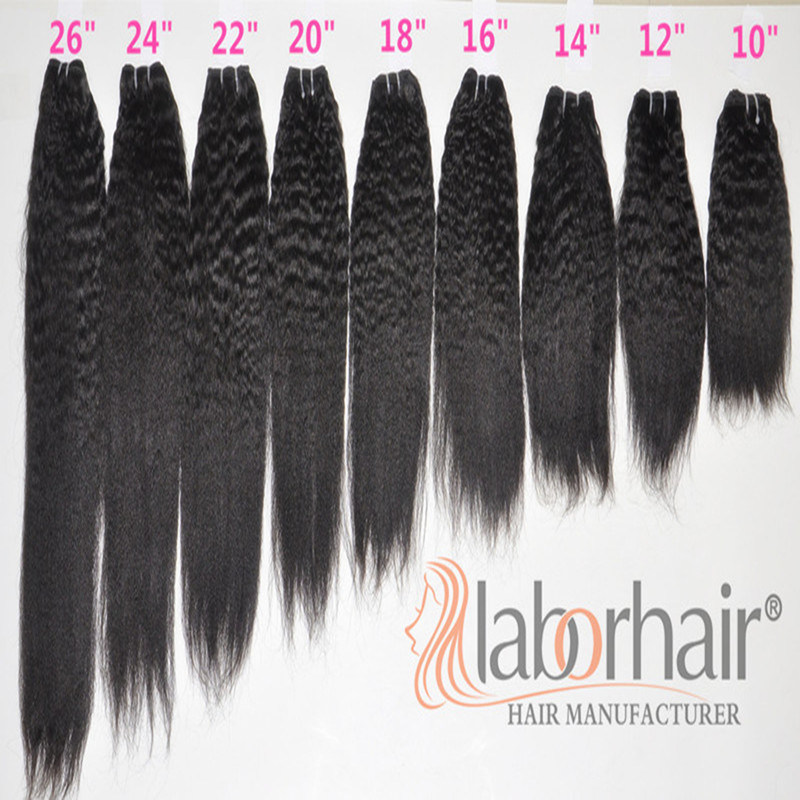 Labor Hair Products Brazilian Hair Weave Bundles Kinky Straight Virgin Hair 105g, Top Human Hair Extension Bundles