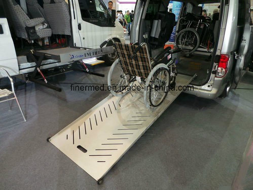 Two Step Telescoping Adjustable Wheelchair Ramp