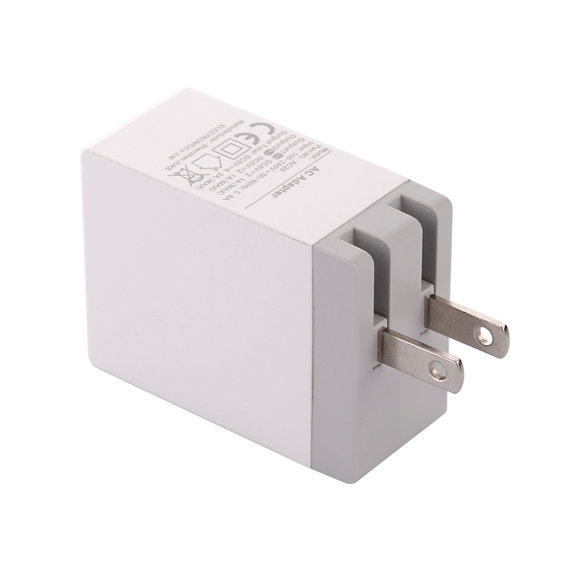 New Arrival 2 USB Us Folded Plug Travel Charger/Wall Charger