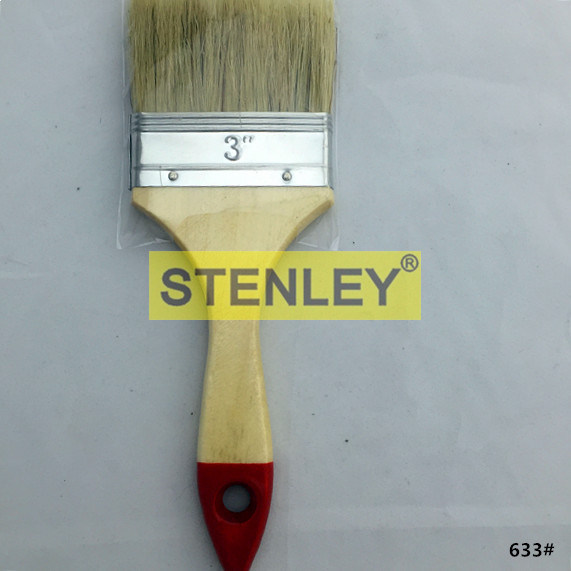 Paint Brush Wooden Handle Brush with Natural Bristle