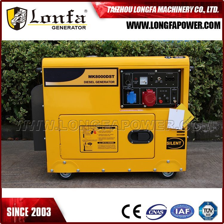Unit Power 50Hz 7kVA 7kw Soundproof Power Diesel Generator Set