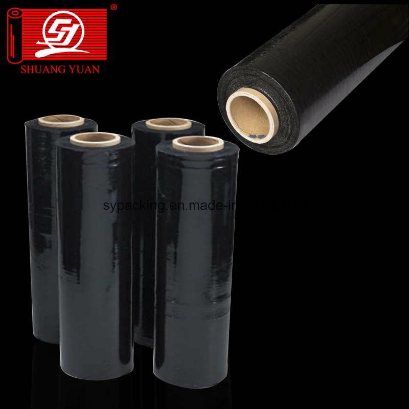Excellent Tear Resistant 6000m Corloful LLDPE Stretch Film Black Film