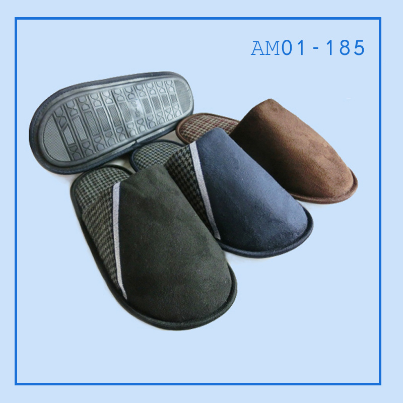 Men Indoor Slippers Shoes TPR in Winter