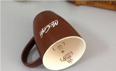 Custom Made Printed 12oz Stoneware Brown Mug for Coffee