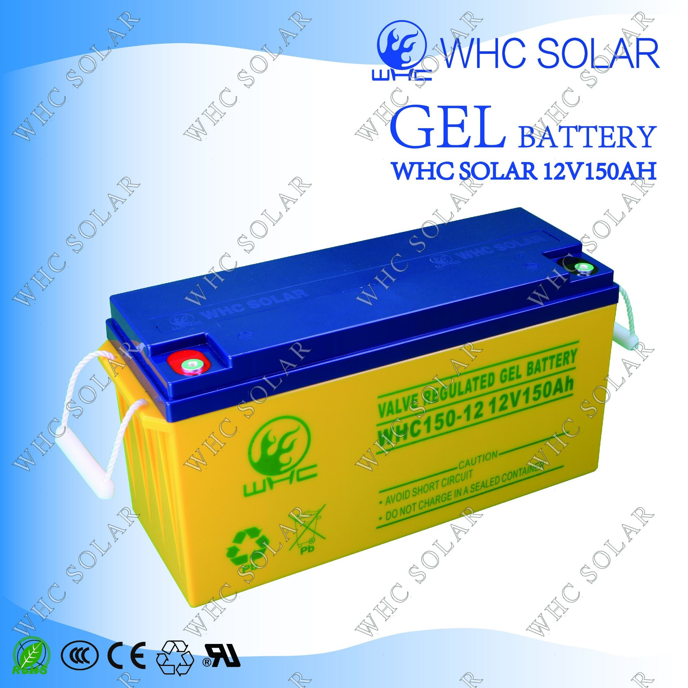 12V 150ah Long Life Rechargeable Gel Battery for Solar Power System