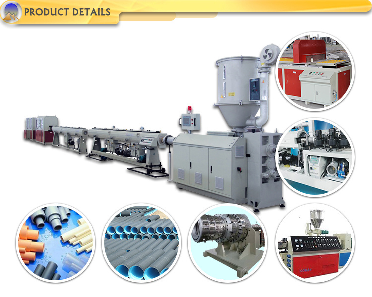 High-Output 16-63mm PVC Pipe Plastic Machine Line Extruder