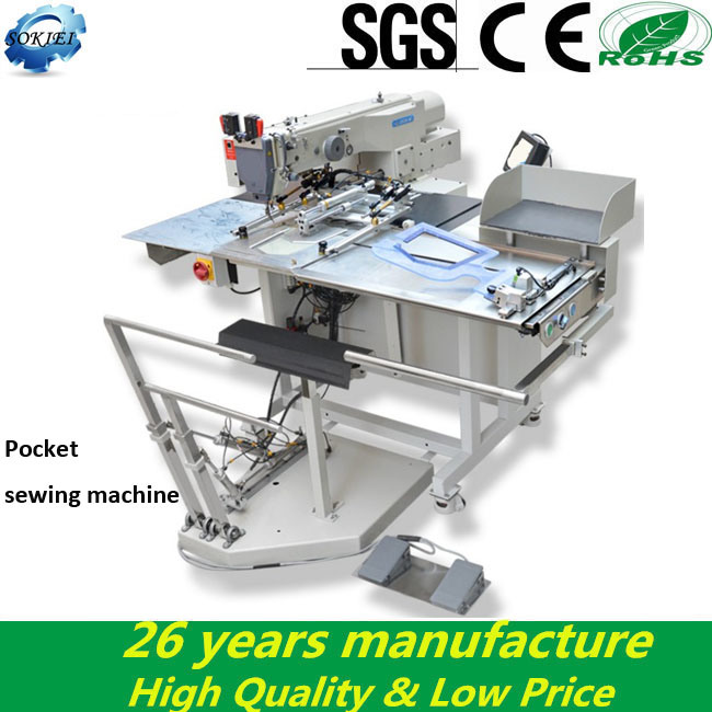 Hot Sell Industrial Automatic Pocket Welting Sewing Machine for Jeans