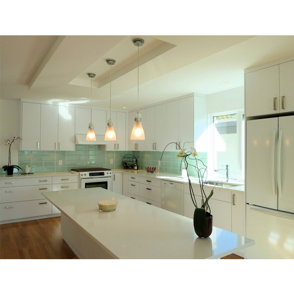 China modern high gloss kitchen cabinet white luxury for New kitchen ideas 2016