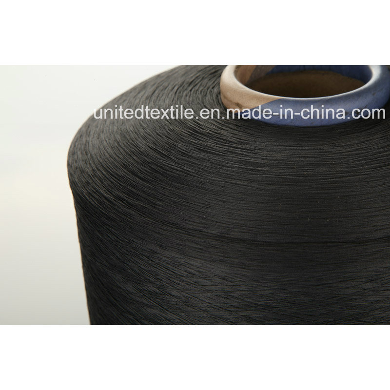 Polyester or Nylon (150d+40d) Spandex Black Air Covered Yarn
