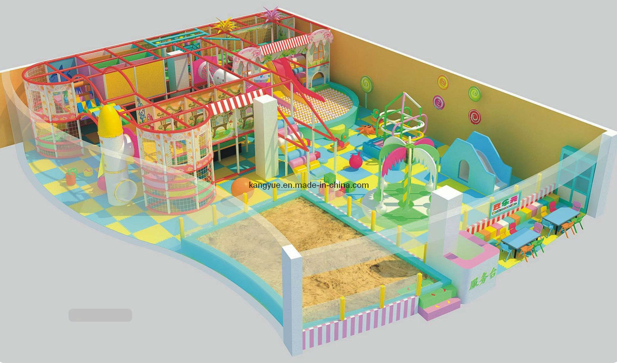 China indoor play equipment kyv 203 2 photos pictures for Indoor play structure prices