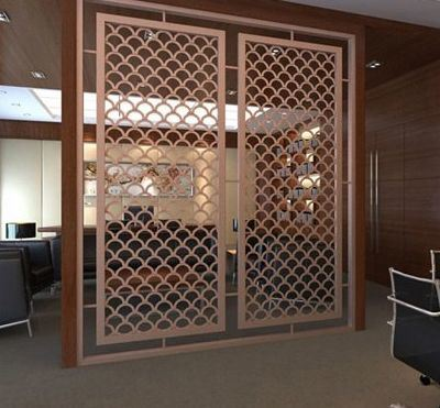 Office Partition Folding Screen Door Stainless Steel Partition Divider Screen