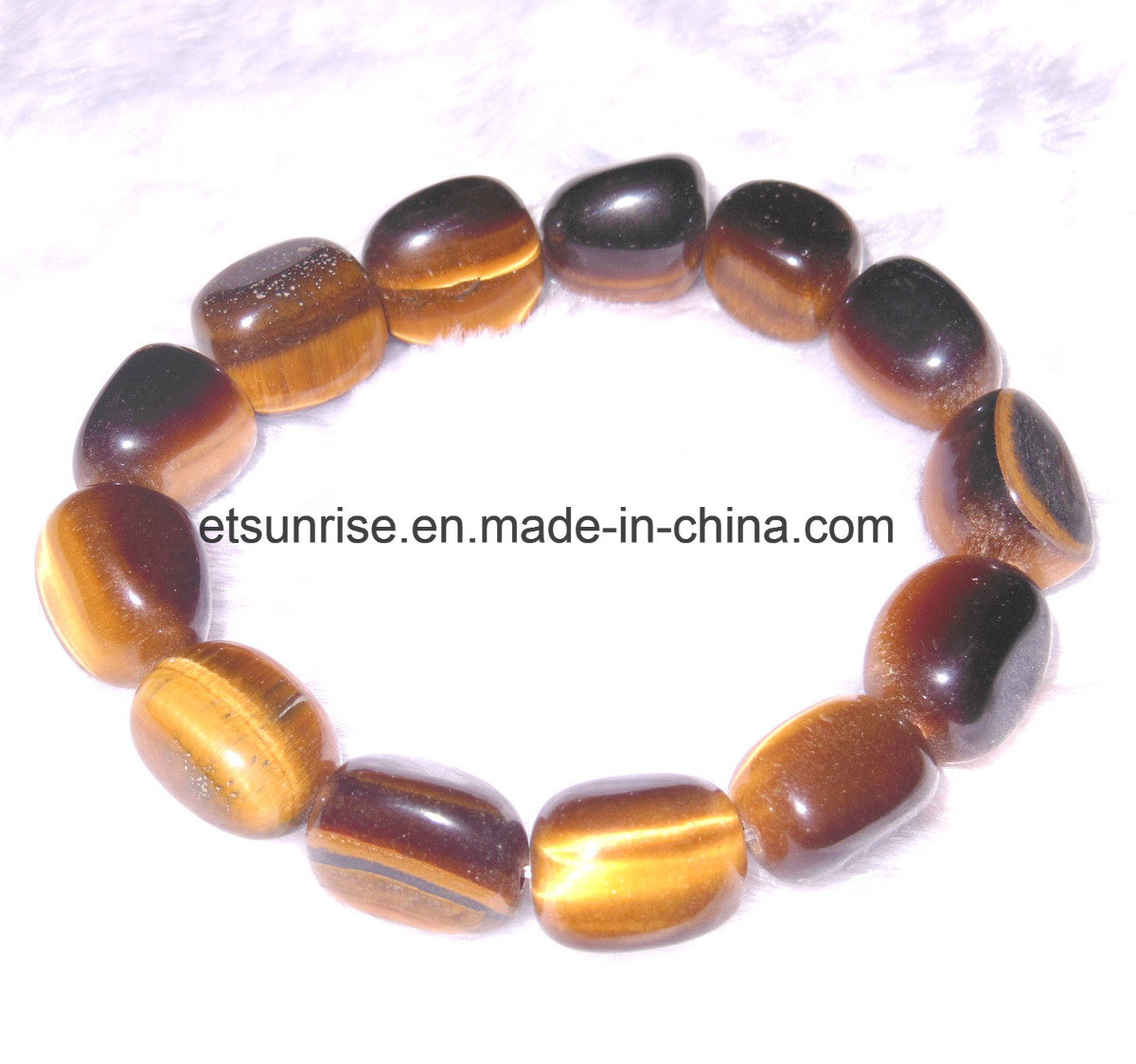 Semi Precious Stone Fashion Crystal Agate Beaded Bracelet Jewelry