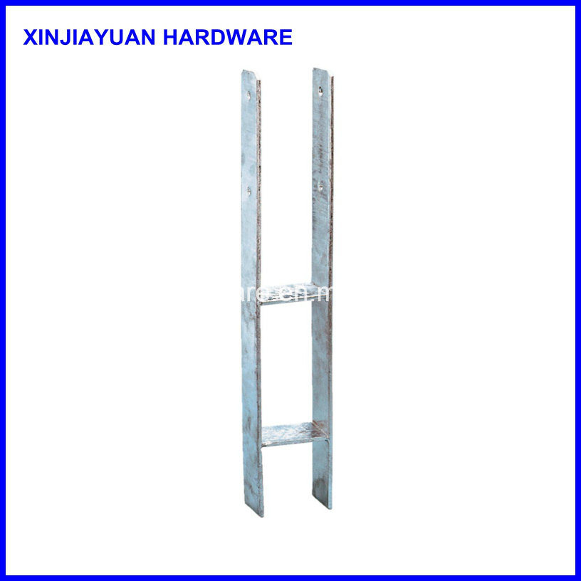 H-Form Carbon Steel Galvanized Plated Ground Anchor, Pole Anchor