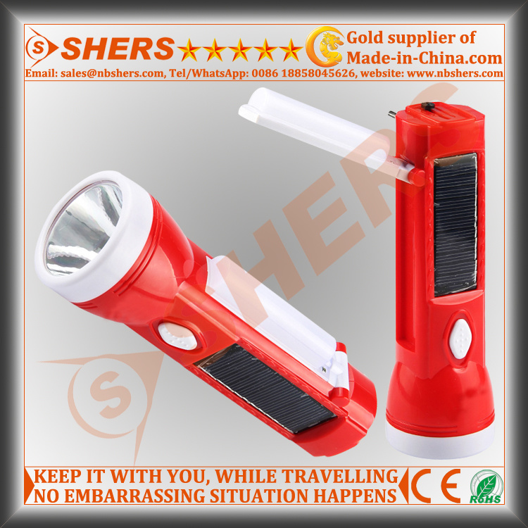Solar 1W LED Flashlight for Hunting with Reading Lamp (SH-1908A)