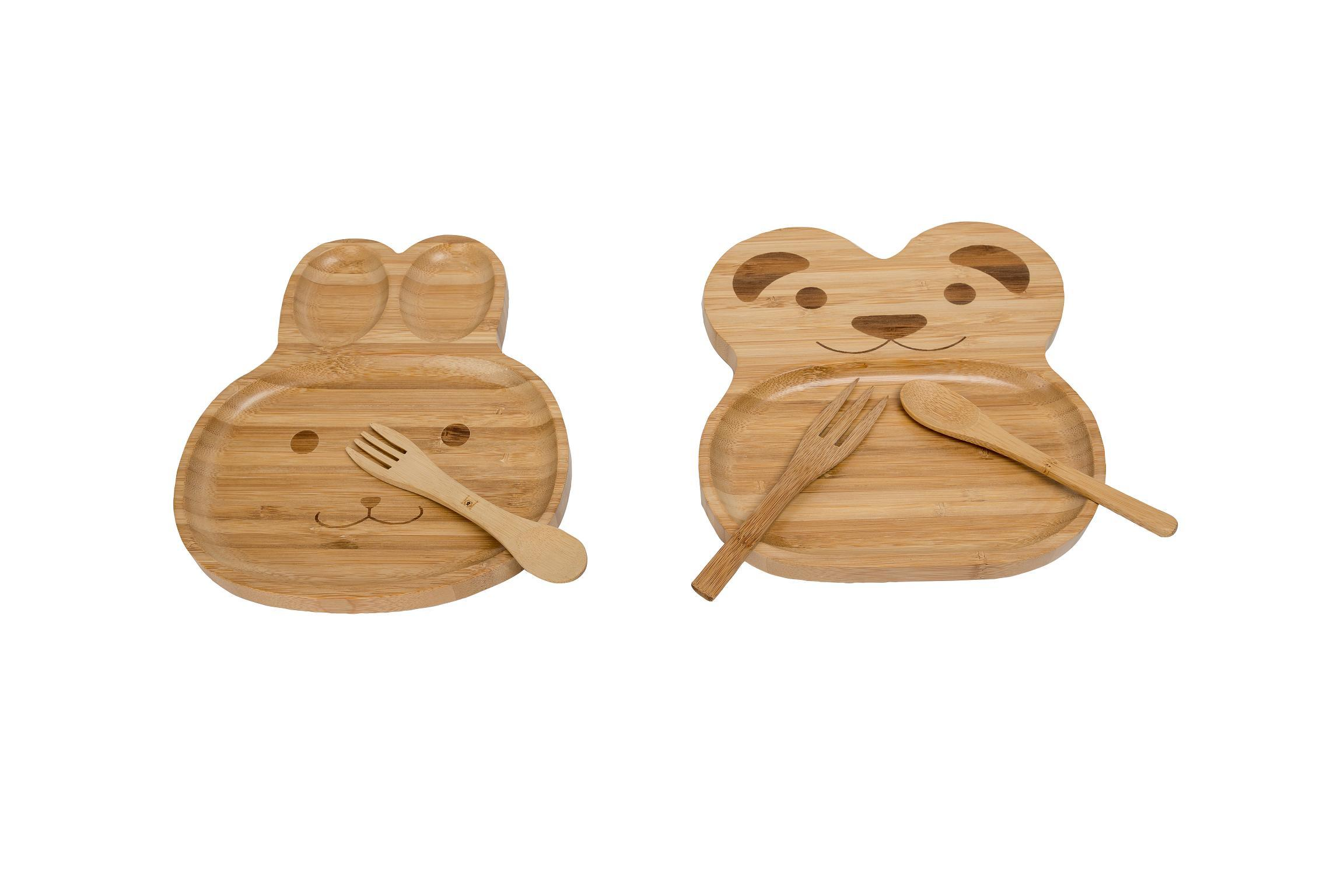 Bamboo Kids Eating Dish Plate Bamboo Tableware