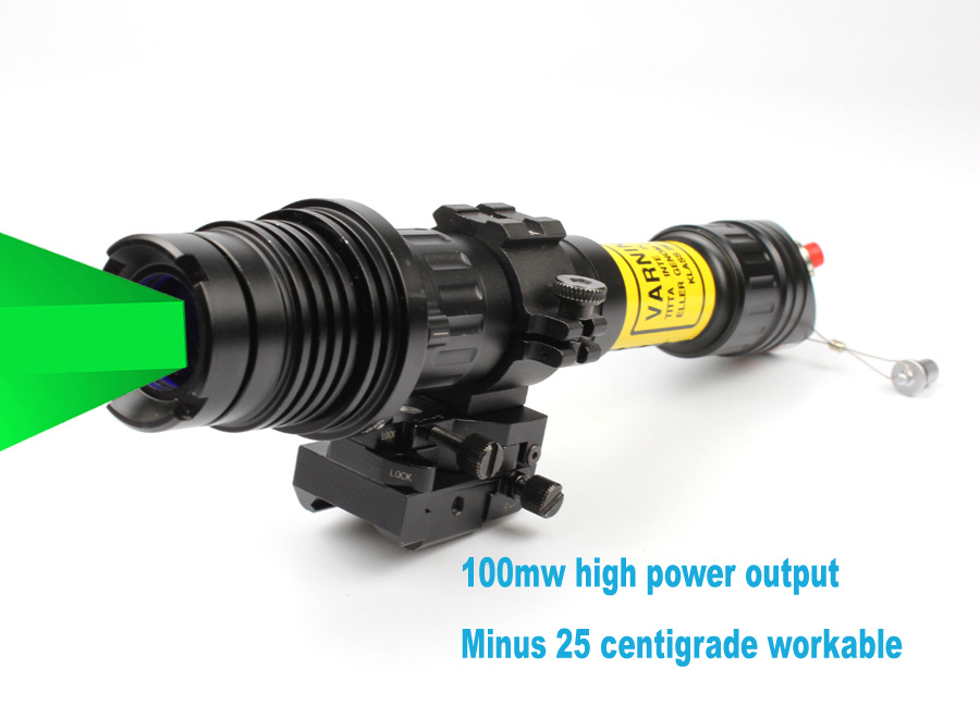 Subzero Rifle Scope Night Vision Solution Hunting Torch Light of Zoomable Long Distance 100MW Green Laser Designator Illuminator /Sight (ES-LS-KS300)