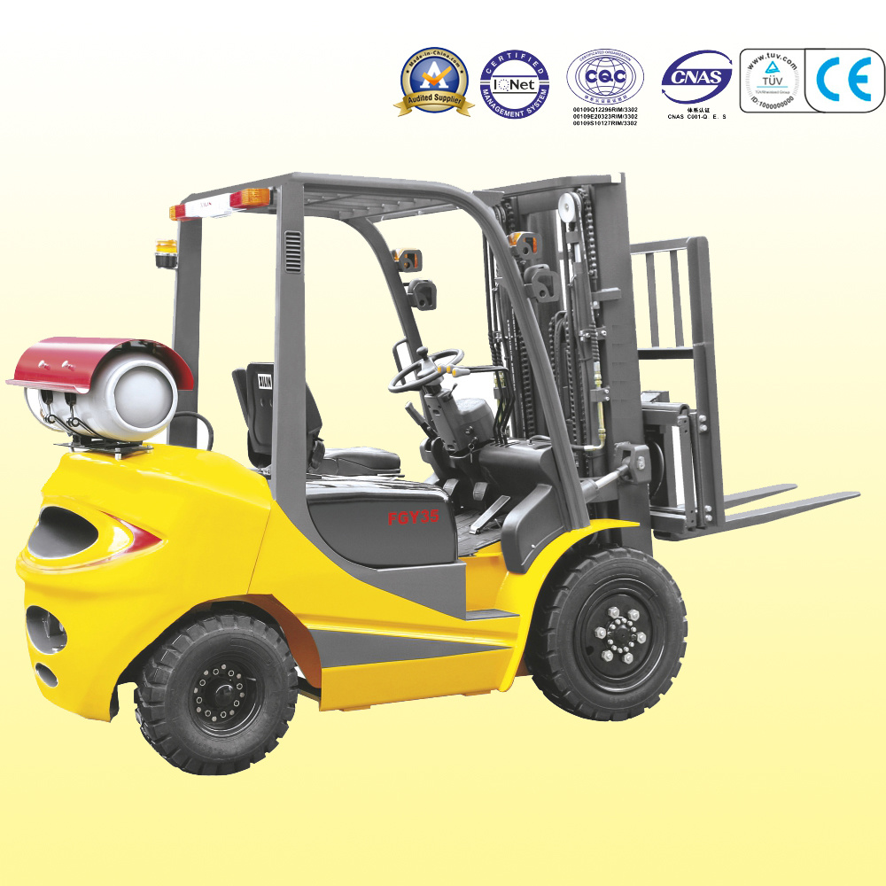 Factory Price 1.5t-3.5t LPG Dual Fuel Forklift Truck for Riding