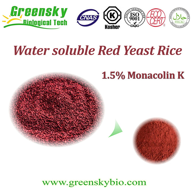 Water Soluble Red Yeast Rice Liquid with 1.5% Monacolin K