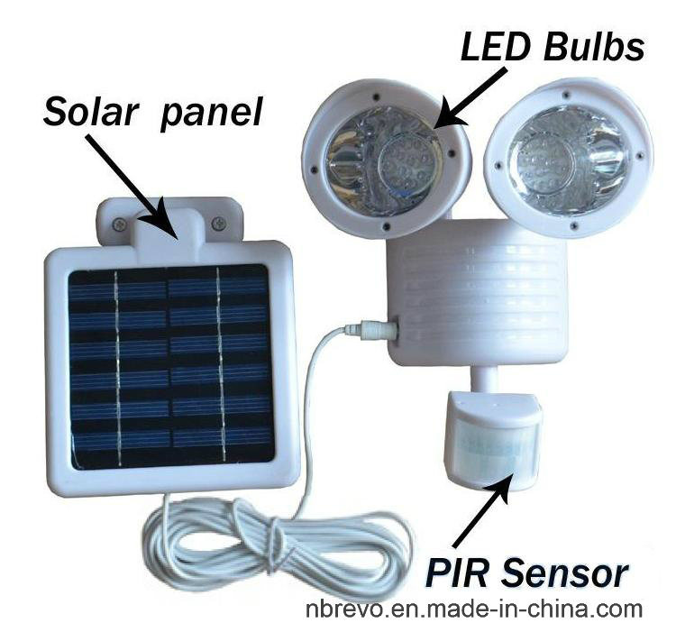 Solar Twin Motion Senor Security Light (RS2009W)
