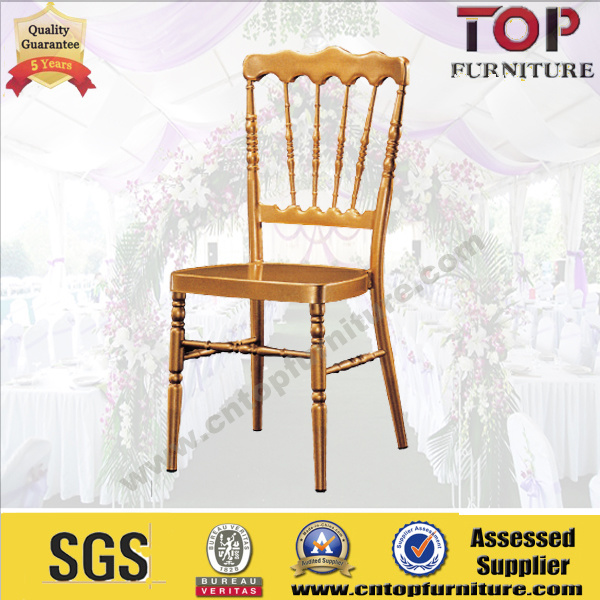 Golden Aluminum Seat Wedding Napoleon Chair