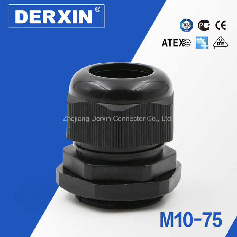 M10-M75 Ce RoHS IP68 Nylon Cable Gland with All Sizes