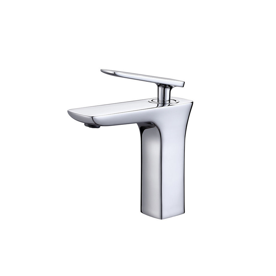 New Design Single Handle Jade Brass Basin Mixer
