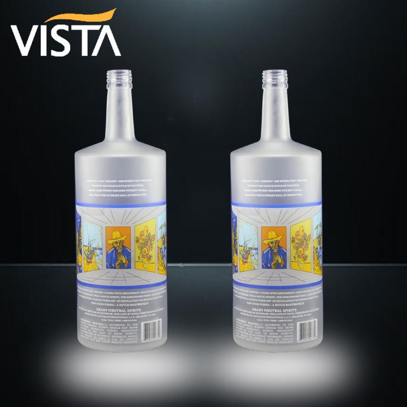 Vista Frosted Vodka Bottle