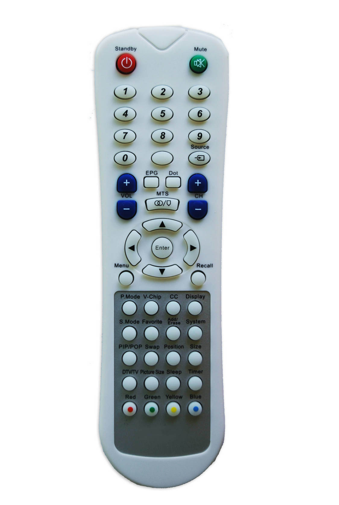 Universal Remote Control for Kt-208 White