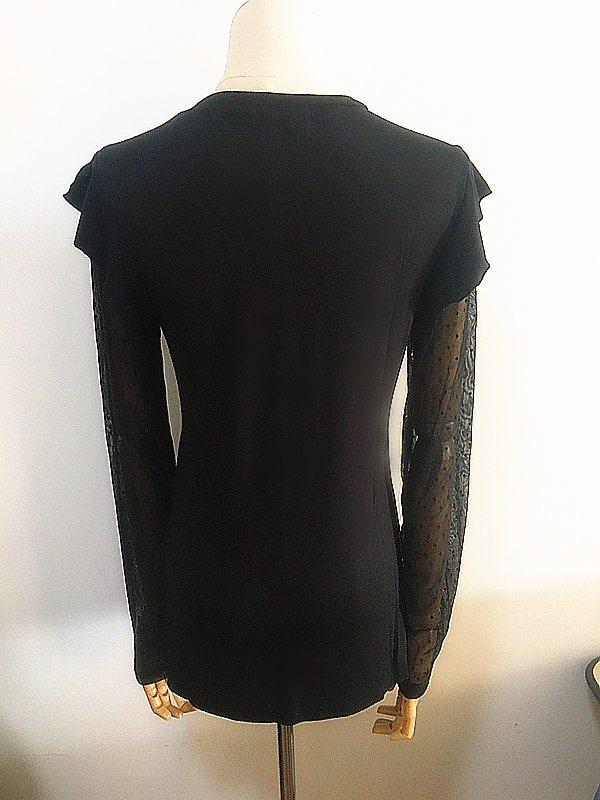Fashion Clothing Round Neck Ruffle Sleeve Women Garments